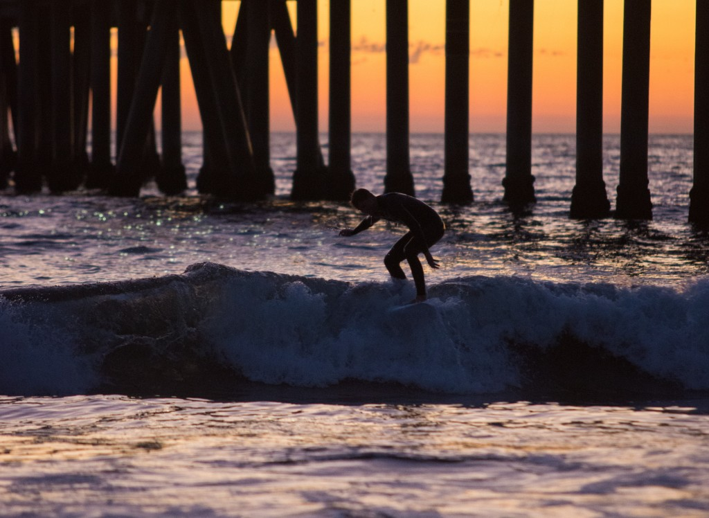 Venice Beach surfer photo, not of Jacob Sheldon